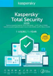 Kaspersky Total Security 2020 (1 Kasutajat / 1 Aasta)