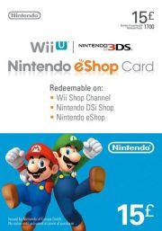 UK Nintendo 15 Nael eShop Kinkekaart