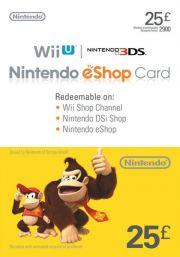UK Nintendo 25 Nael eShop Kinkekaart