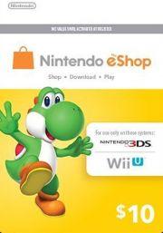 USA Nintendo 10 Dollar eShop Kinkekaart