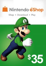 USA Nintendo 35 Dollar eShop Kinkekaart