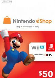 USA Nintendo 50 Dollar eShop Kinkekaart