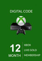 Xbox Live 12 Kuu Kuld Liikmeaeg (Xbox One & 360)