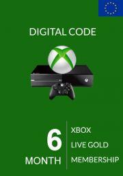 EU Xbox Live Gold 6 Kuu Liikmeaeg