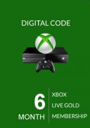 Xbox Live Gold 6 Kuu Liikmeaeg (Global)