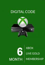 Xbox Live Gold 6 Kuu Liikmeaeg (Global)