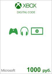 RUS Xbox 1000 Rubla Kinkekaart