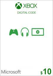 USA Xbox 10 Dollar Kinkekaart
