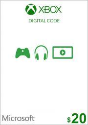 USA Xbox 20 Dollar Kinkekaart