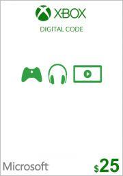 USA Xbox 25 Dollar Kinkekaart