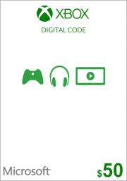 USA Xbox 50 Dollar Kinkekaart (Xbox One & 360)