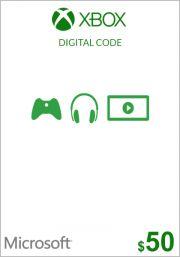 USA Xbox 50 Dollar Kinkekaart