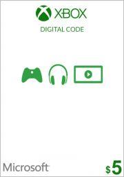 USA Xbox 5 Dollar Kinkekaart