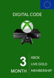 EU Xbox Live 3 Kuu Kuld Liikmeaeg (Xbox One & 360)