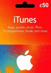 iTunes UK 50 GBP Kinkekaart