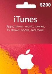 iTunes USA 200 USD Kinkekaart