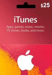 iTunes USA 25 USD Kinkekaart