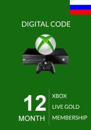 RUS Xbox Live 12 Kuu Kuld Liikmeaeg (Xbox One & 360)