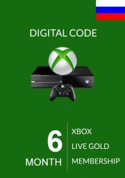 RUS Xbox Live Gold 6 Kuu Liikmeaeg