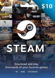 USA Steam 10 Dollar Kinkekaart