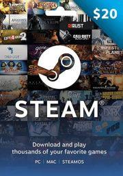 USA Steam 20 Dollar Kinkekaart