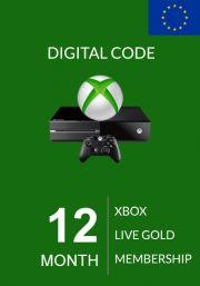 EU Xbox Live 12 Kuu Kuld Liikmeaeg (Xbox One & 360)
