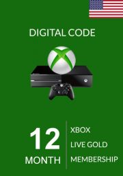 USA Xbox Live Gold 12 Kuu Liikmeaeg