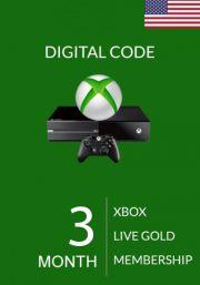 USA Xbox Live Gold 3 Kuu Liikmeaeg